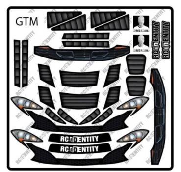 RC Identity Decal sheet for GT12 GTM Body