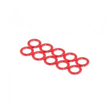 Roche Aluminium King Pin Spacer, Red, M3.2x5x0.5mm