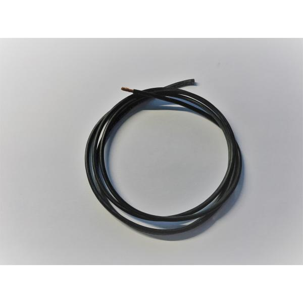 Silicon Wires, ultra flexible, 1,5mm2, black, 1m